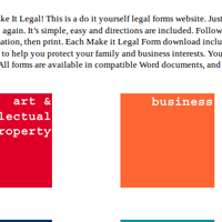 Make It Legal Forms Website Home