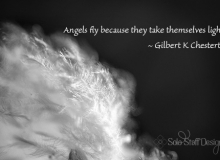 Angels fly because they take themselves lightly wallpaper